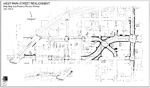 West Main Strip Map and Existing Parcels Exhibit